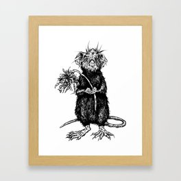 Rat with Flower #4 Framed Art Print