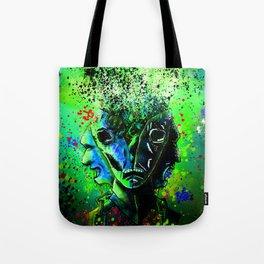 Split-face Green Tote Bag
