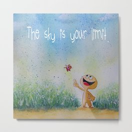 The sky is your limit. Metal Print