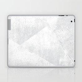 White and Gray Lino Print Texture Geometric Laptop & iPad Skin