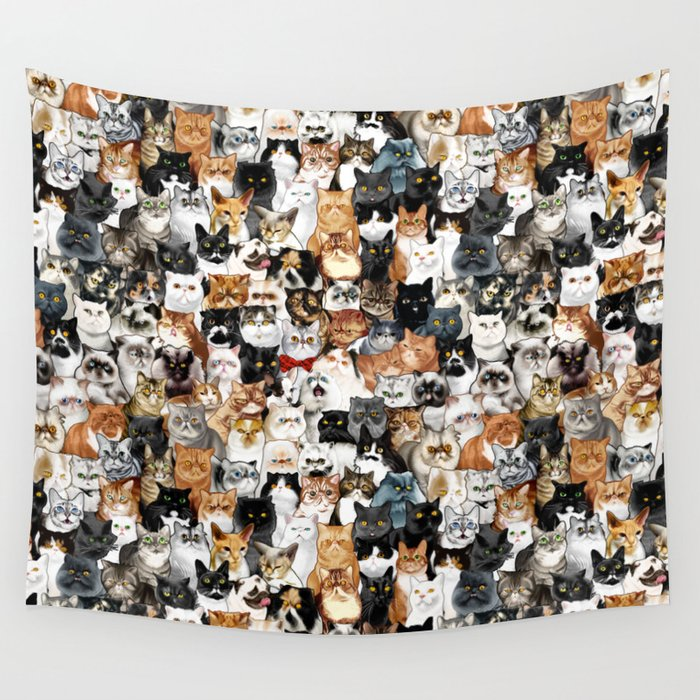 Catmina Project Wall Tapestry