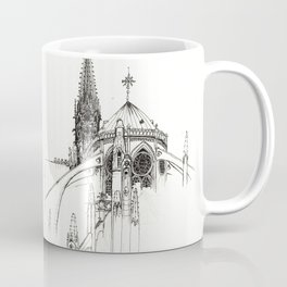 Notre Dame Cathedral Sketch Coffee Mug