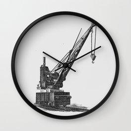 Railroad crane Wall Clock