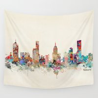 melbourne Wall Tapestries featuring melbourne australia by bri.buckley
