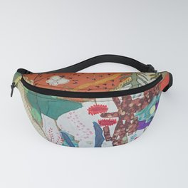 Llama and butterfly Fanny Pack