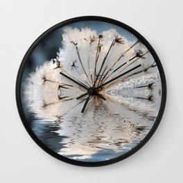 Frosted Cow Parsley  Wall Clock