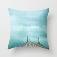 circus Throw Pillows featuring Circus by The Last Sparrow