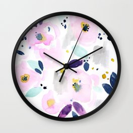 Mystical Floral Wall Clock