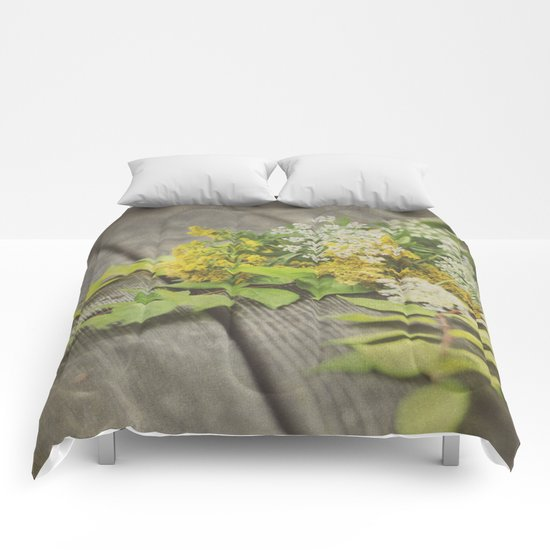 Rustic Fall Flowers Comforters