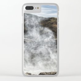 Mist Creature Rising from Spouting Horn Clear iPhone Case