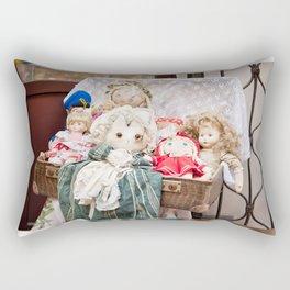 Retro rag dolls toys collection Rectangular Pillow