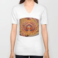 wine V-neck T-shirts featuring Summer Wine by EliB-Art