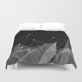 Black fractals Duvet Cover