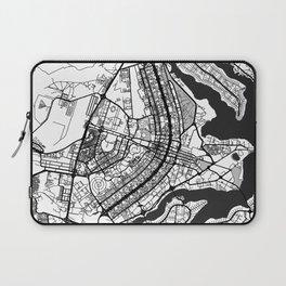 Brasilia Map Gray Laptop Sleeve
