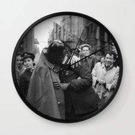 Victory Kiss  Wall Clock