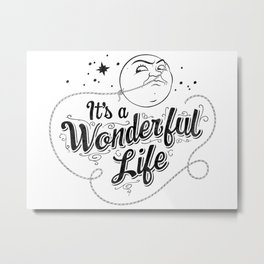 It's a Wonderful Life - Title Metal Print