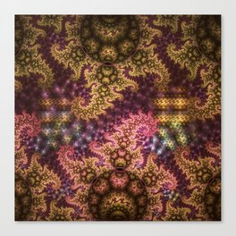 Dragon dreams, fractal pattern abstract Canvas Print