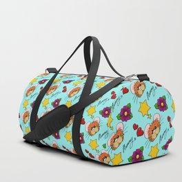 Hammy Pattern in Sky Blue Duffle Bag