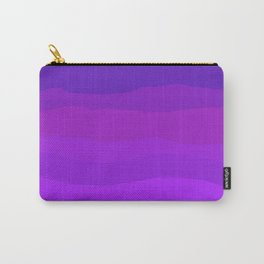 Purple Pink Waves Carry-All Pouch