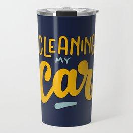 Cleaning my car Travel Mug