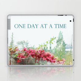 One Day at a Time Fence Flowers Laptop & iPad Skin