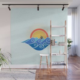 Sailing in a Dragon Boat - Wind Waker Wall Mural