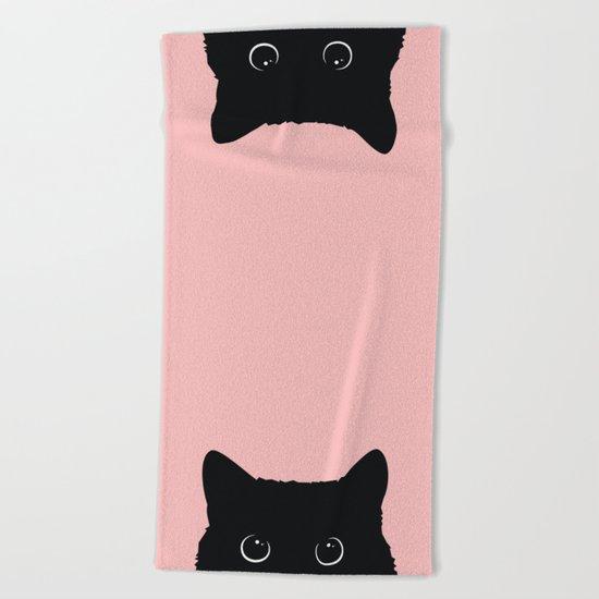 Black Cat Beach Towel