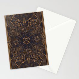 Mechanical Steampunk D20 Dice of the Game Master Tabletop RPG Gaming Stationery Cards