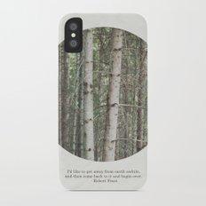 robert frost's birch trees Slim Case iPhone X