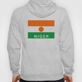 niger country flag name text Hoody