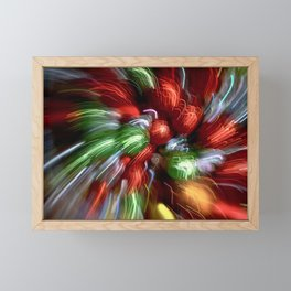 Abstract Red & Green Motion Blur Framed Mini Art Print