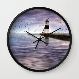The Light on the Pier Wall Clock