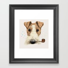 fox terrier sailor Framed Art Print