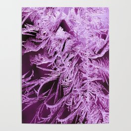 White Ice Crystals On A Purple Background #decor #society6 #homedecor Poster
