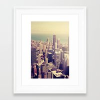 metropolis Framed Art Prints featuring Metropolis by farsidian