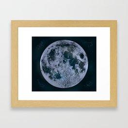 Large Night Sky Moon Print, by Christy Nyboer Framed Art Print