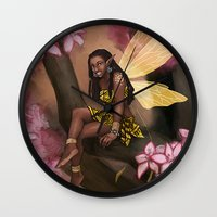 copper Wall Clocks featuring Copper by Brandy Woods