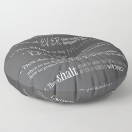 The 10 Commandments for Graphic Designers Floor Pillow