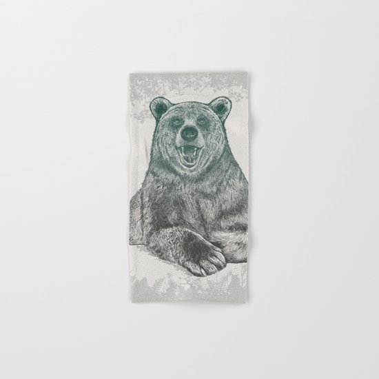 Bear Portrait Hand & Bath Towel