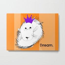 The Lion Dreams Big - Art by a Child Metal Print