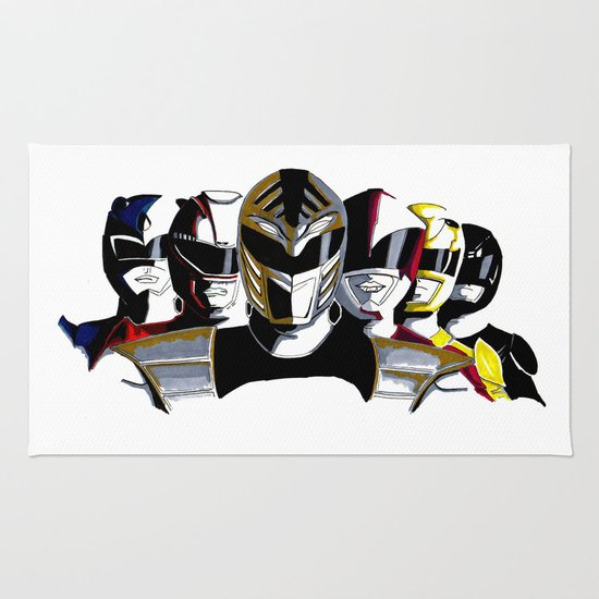 Power Rangers Rug Home Decor