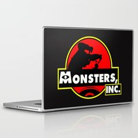 monsters inc Laptop & iPad Skins featuring Monsters, Inc Logo.  by Gary Wood