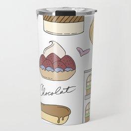 French Bakery Doodles Travel Mug