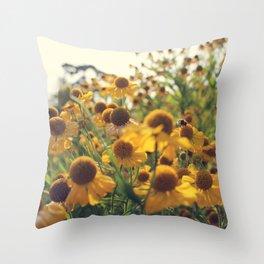 Yellow Bee Throw Pillow