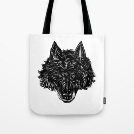 Wolf's Head Tote Bag