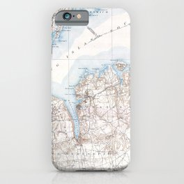 Vintage Oyster Bay Long Island New York Map iPhone Case