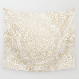 Medallion Pattern in Pale Tan Wall Tapestry