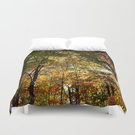 Through the Trees in October Duvet Cover