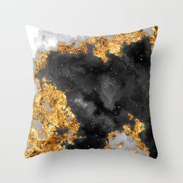 100 Starry Nebulas in Space Black and White 067 (Portrait) Throw Pillow
