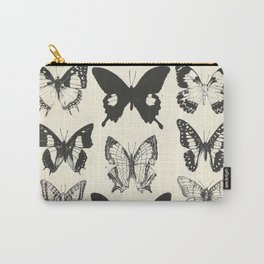 Vintage Butterfly Print Carry-All Pouch